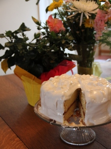 Vanilla Grapefruit Curd Cake a.k.a. Half-Birthday Boy Cake